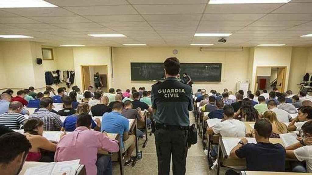 Una imagen de una prueba anterior a las oposiciones de la Guardia Civil.