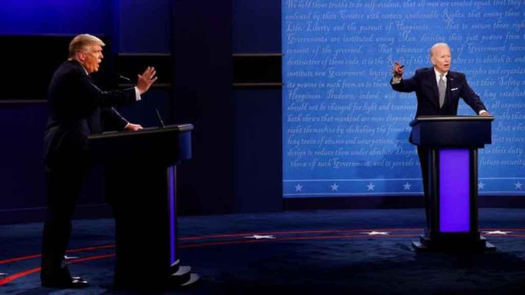 Primer debate electoral entre Donald Trump y Joe Biden.