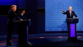 Imagen del primer debate electoral entre Donald Trump y Joe Biden.