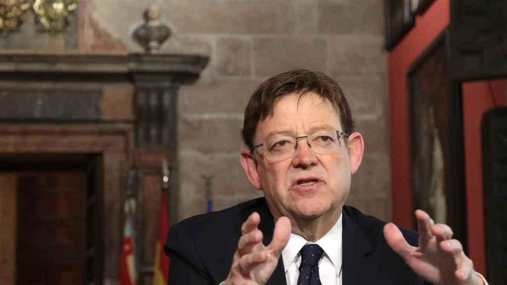 El presidente Valenciano, Ximo Puig, en el Palau de la Generalitat.