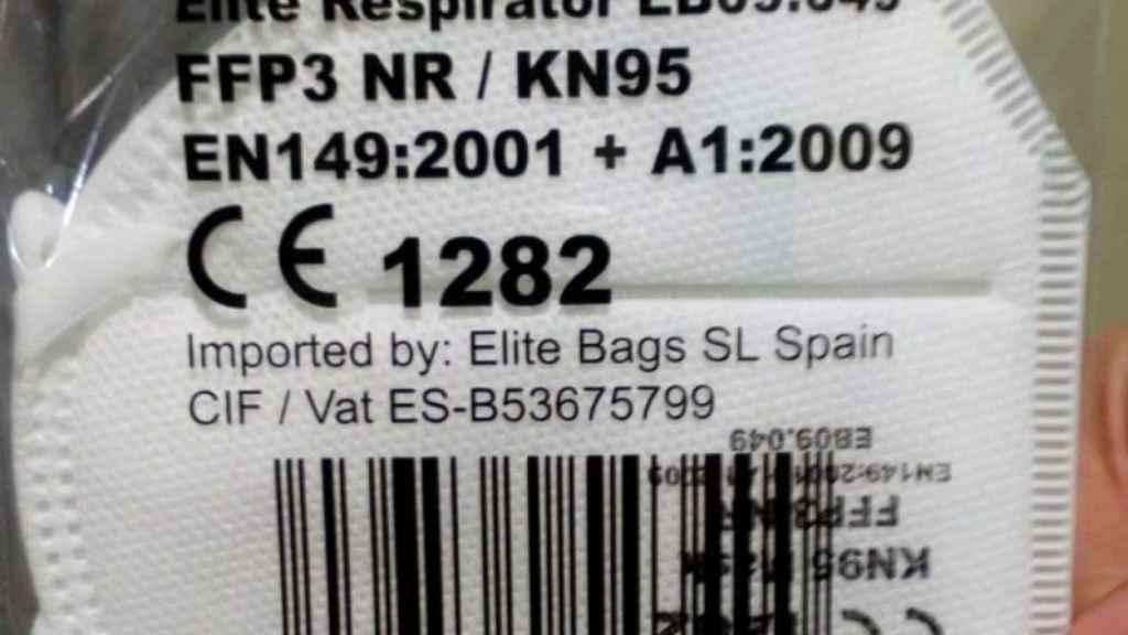 La mascarilla Elite tipo FFP3/NK95.