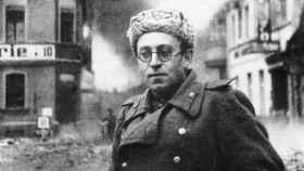 Vassili Grossman en Berlín tras finalizar la Segunda Guerra Mundial.