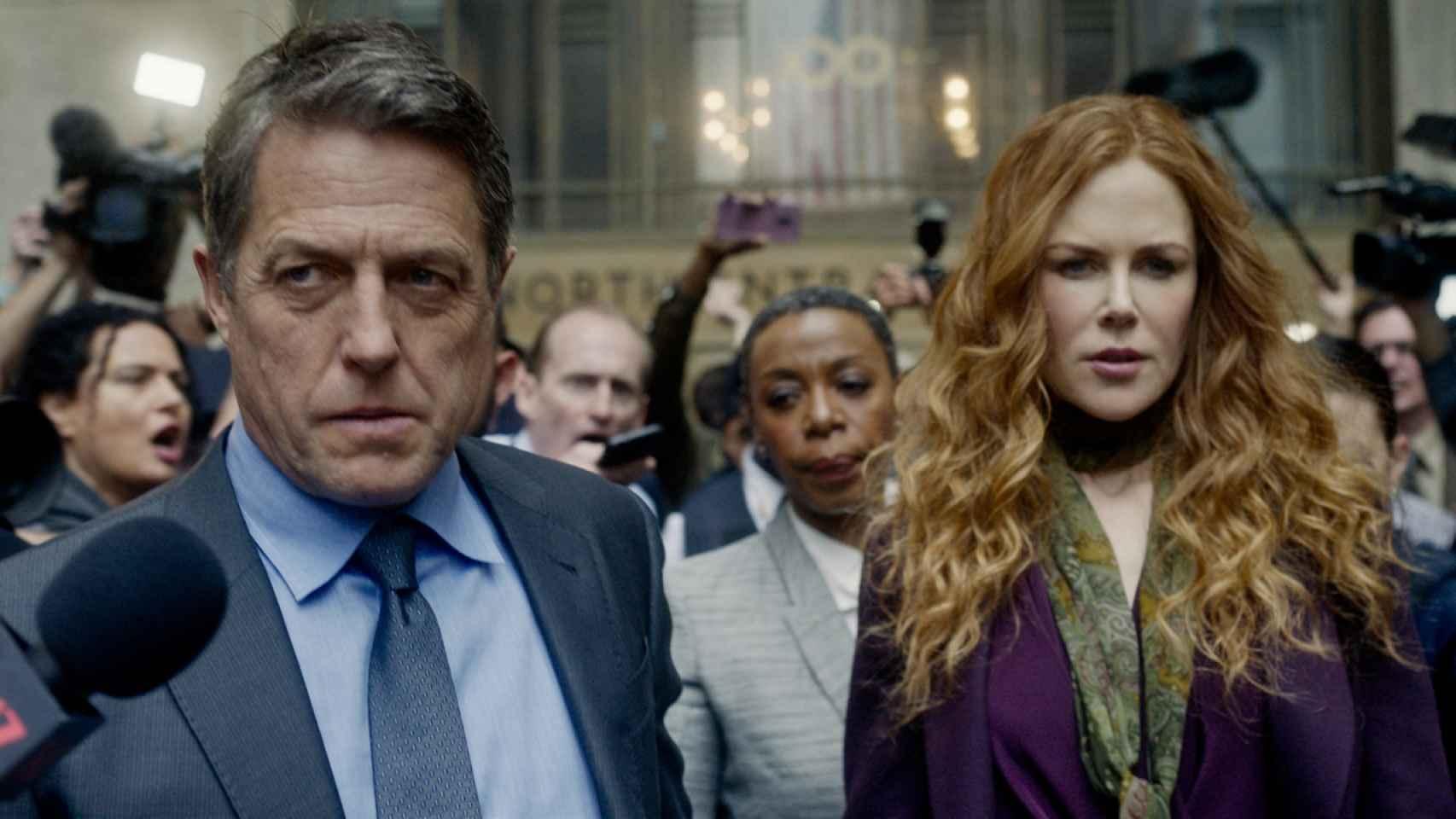 Hugh Grant y Nicole Kidman en The undoing.