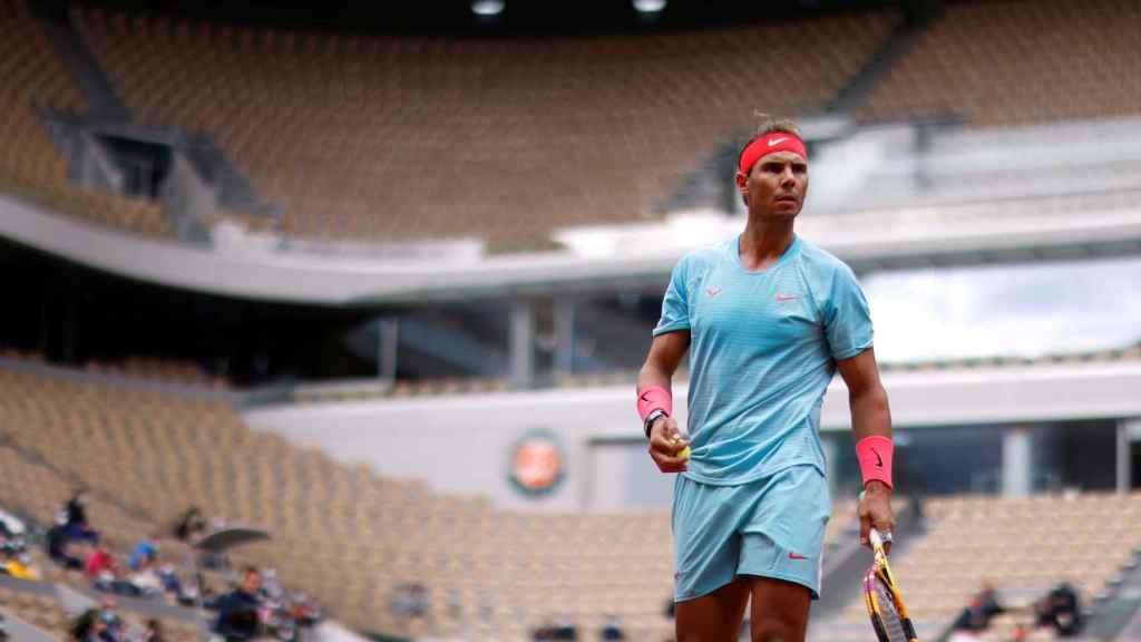 Rafa Nadal durante su victoria en Roland Garros