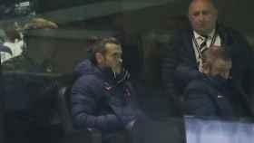 Gareth Bale, en el palco del Tottenham