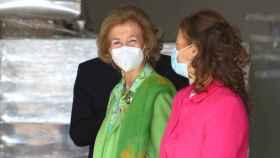 La Reina Sofía a su llegada al Banco de Alimentos de Toledo (Foto: Ó. HUERTAS)
