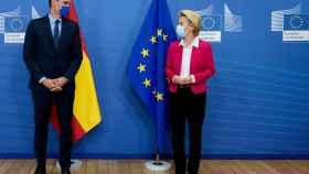Pedro Sánchez y Ursula von der Leyen, durante la reunión de la semana pasada en Bruselas