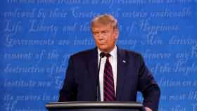 Donald Trump en un momento del primer debate con Joe Biden.