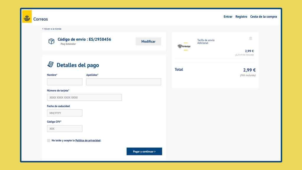 Parte del proceso de 'phishing' del correo electrónico.
