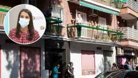 """Letizia, en el polvorín de la Covid de Vallecas: """"Sabe lo que es venir de abajo, la admiro"""", dice una vecina"""