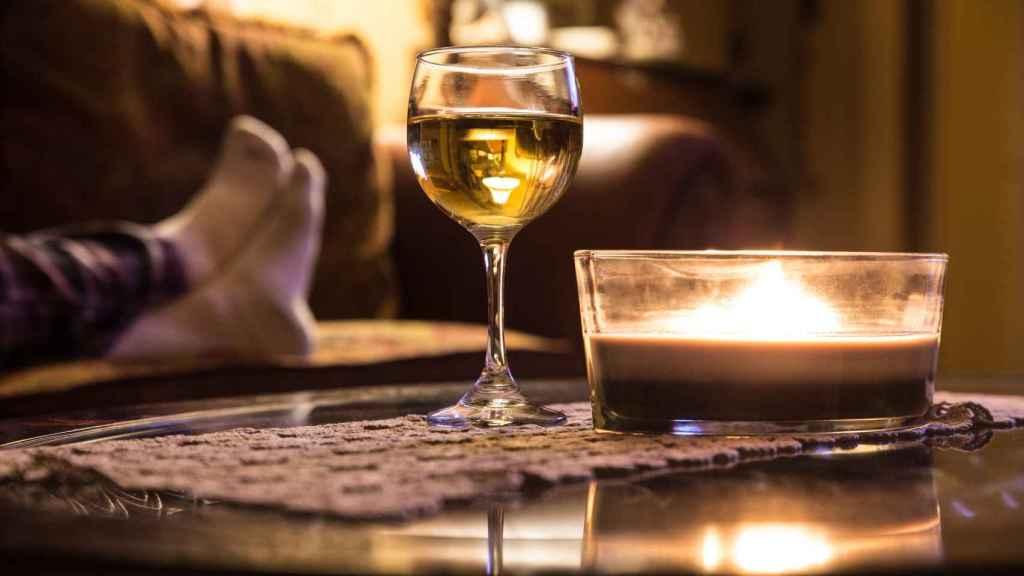Beber vino por el mero placer de hacerlo.