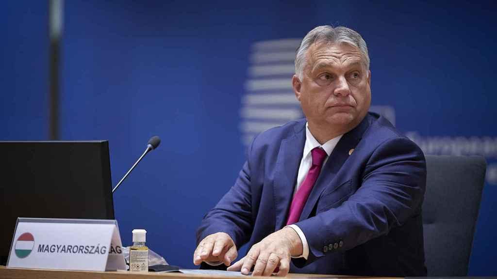 Viktor Orbán, durante el Consejo Europeo de la semana pasada.
