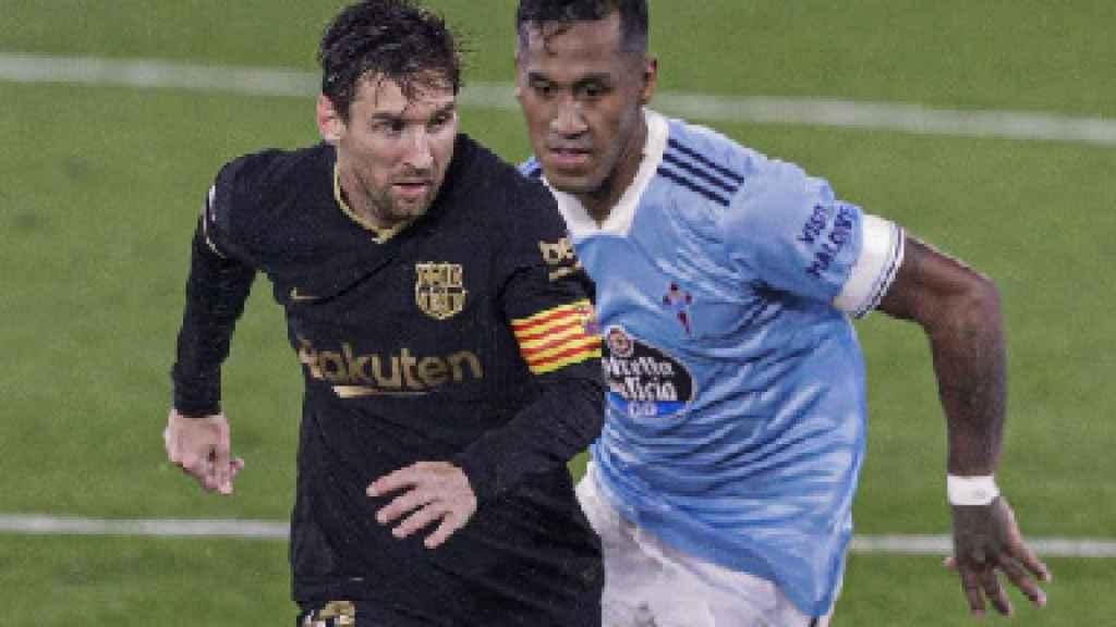 Messi durante el Celta-Barça