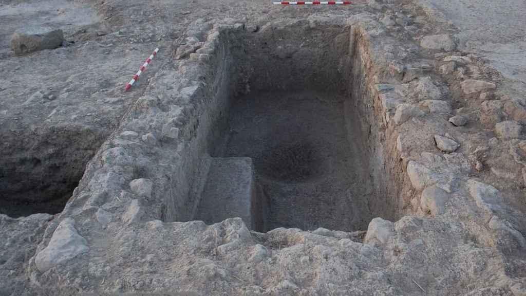 Una de las construcciones romanas halladas en Baños del Peral, Valdepeñas.