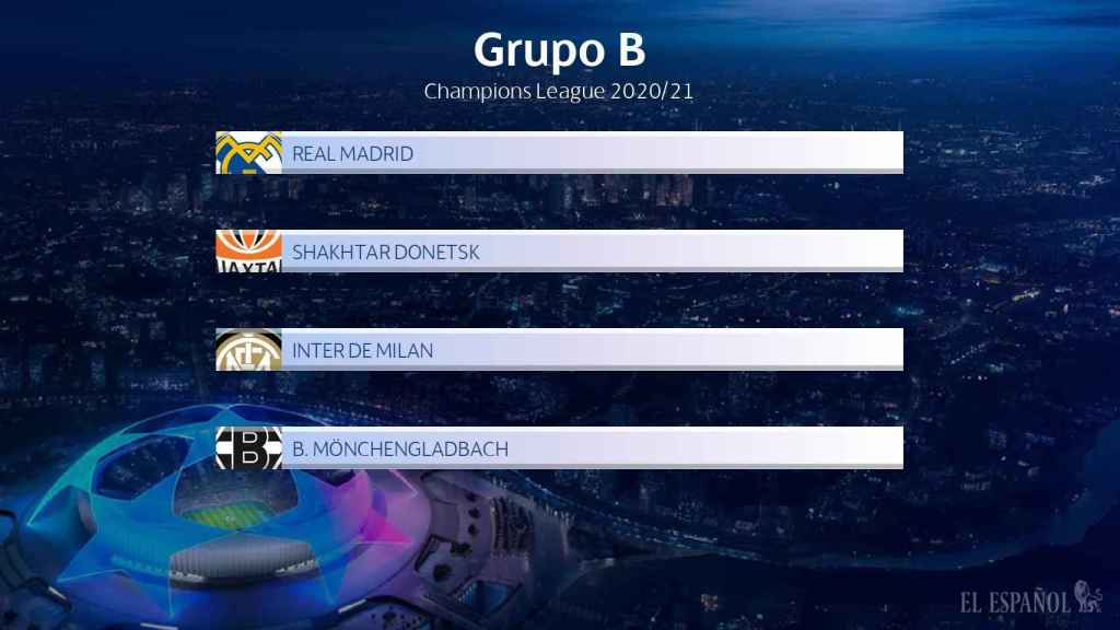 El Real Madrid jugará en el grupo B de la Champions League 2020/21