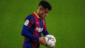 Coutinho, con el Barcelona