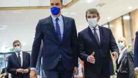 Pedro Sánchez y David Sassoli, durante su reunión de la semana pasada en Bruselas
