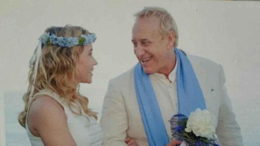 Angela y Josep Maria Mainat el día de su boda.