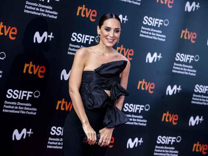 Tamara Falcó en su último acto público en el Festival de San Sebastián.