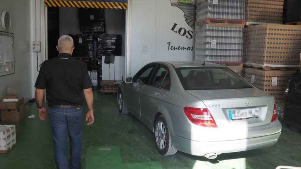 El empresario José Antonio Capitán en uno de sus últimos días en la sede de Marinaleda de la empresa Los Lugares.