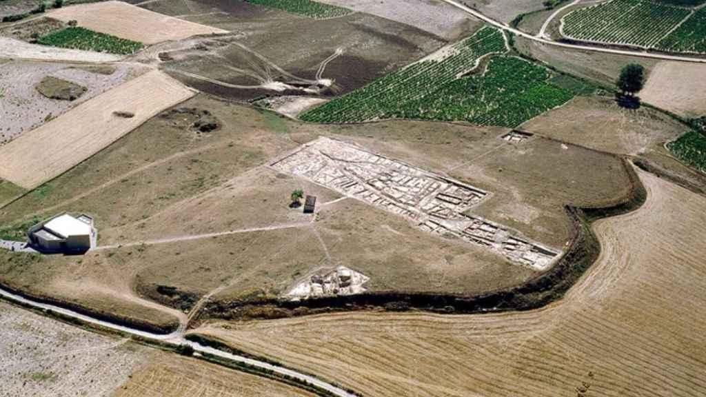 Vista aérea del yacimiento de La Hoya.