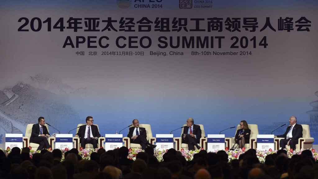 Belen Garijo, en la participación en la reunión de la APEC en China.