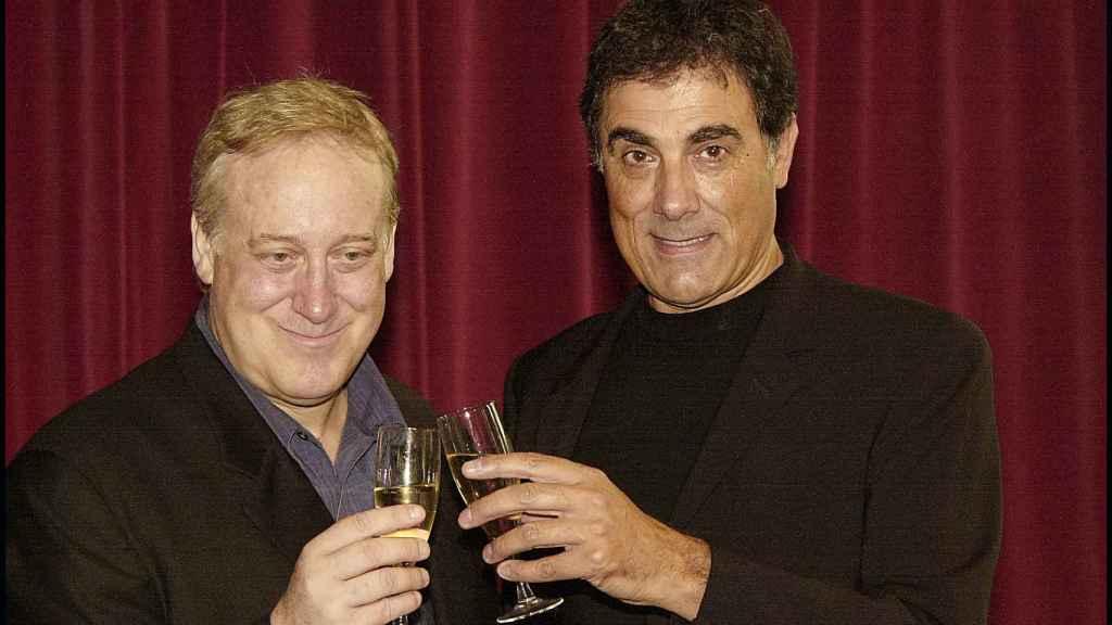 Josep María Mainat y Tony Cruz, en la presentación de la segunda temporada de 'Operación Triunfo'.