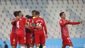 El Granada celebra su clasificación a Europa League