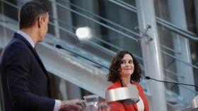 Pedro Sánchez e Isabel Díaz Ayuso, durante su última comparecencia conjunta.