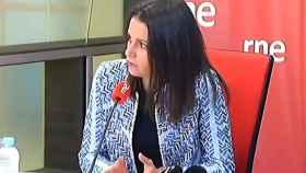 La líder de Cs, Inés Arrimadas, este viernes en RNE.