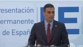 El presidente del Gobierno, Pedro Sánchez, este viernes en Bruselas tras la reunión del Consejo Europeo.
