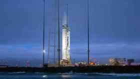 La nave Cygnus con suministros para la Estación Espacial Internacional.