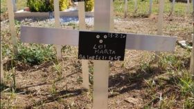 Imagen de la tumba del feto abortado de Marta.