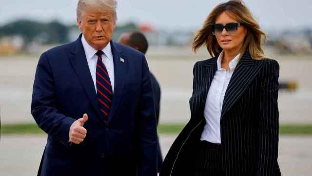 Donald Trump y Melania Trump el pasado miércoles en Cleveland.