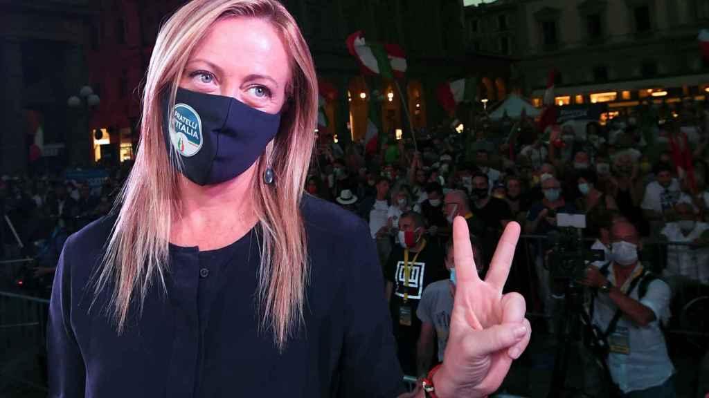 Giorgia Meloni, líder del partido de extrema derecha Hermanos de Italia.