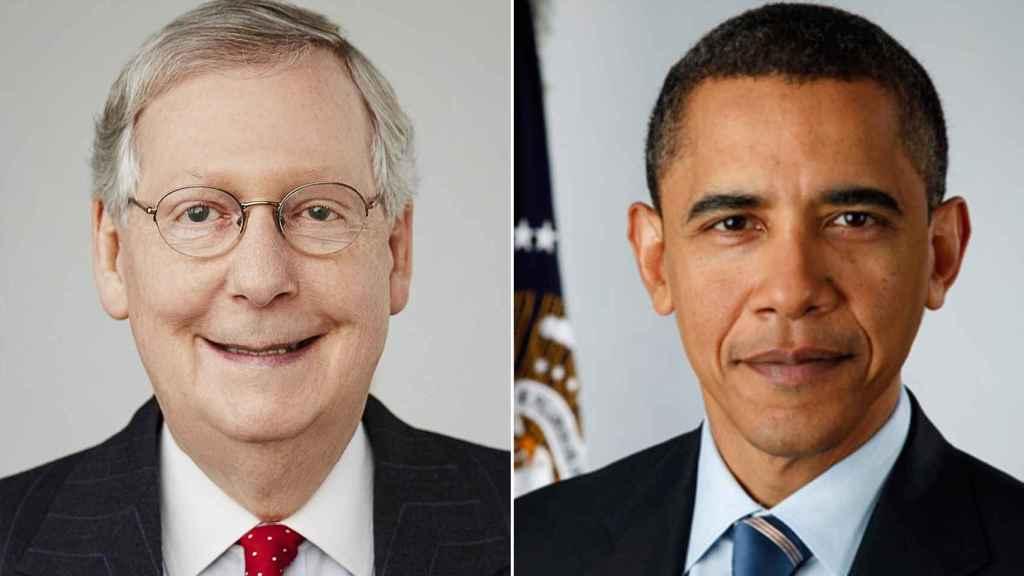 Mitch McConnell y Barack Obama.