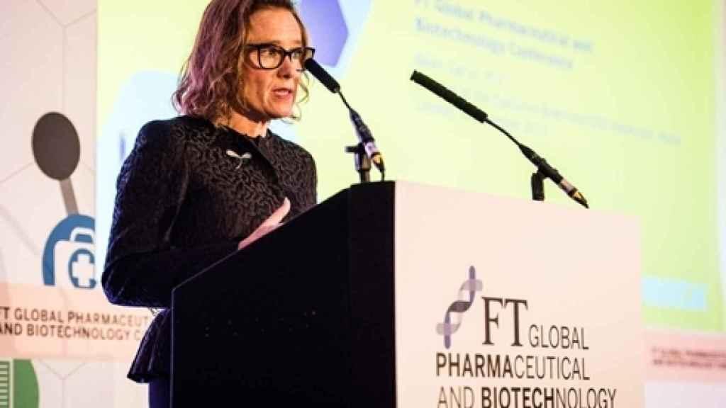 Belén Garijo en el FT Global Pharmaceutical and Biotechnology Conference de 2017.
