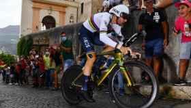 Filippo Ganna en la crono del Giro de Italia