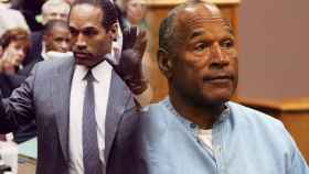 OJ Simpson durante el juicio por los asesinatos y en su último juicio