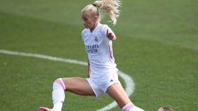 Sofia Jakobsson, en un partido del Real Madrid Femenino en la temporada 2020/2021