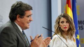 José Luis Escrivá y Yolanda Díaz.
