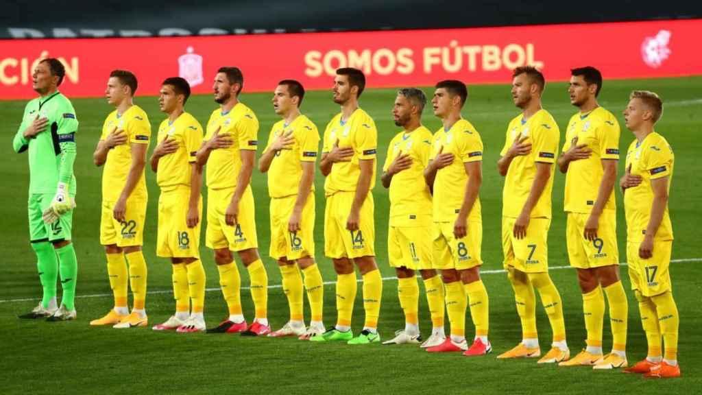 Los titulares de Ucrania en su partido frente a España de la Nations League