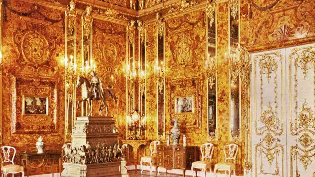 La Cámara de Ámbar en el Palacio de Catalina.
