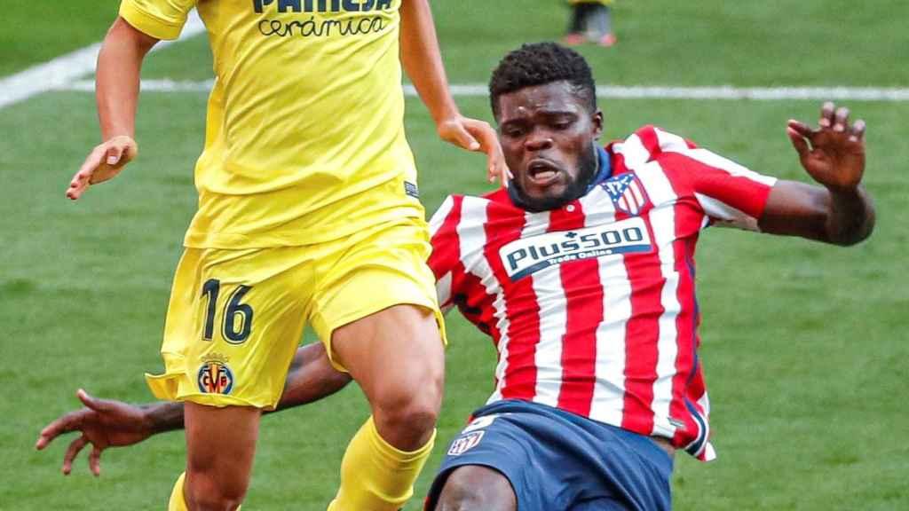 Thomas Partey durante el partido ante el Villarreal