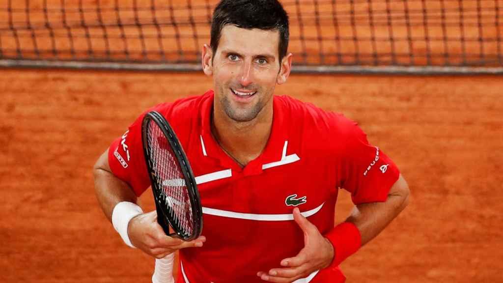 Novak Djokovic, en Roland Garros 2020