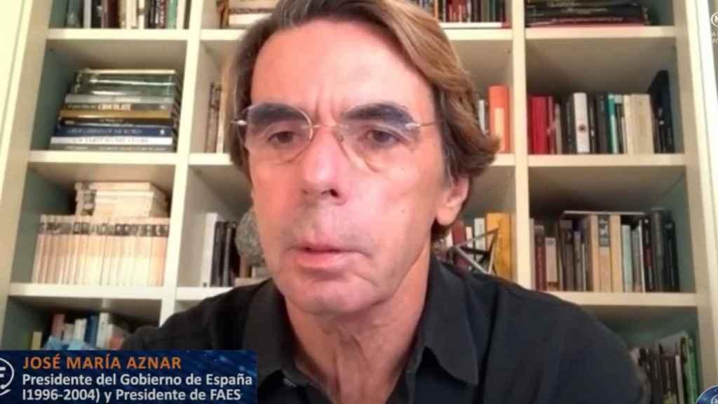 José María Aznar, expresidente del Gobierno, en el Nueva Economía Fórum.