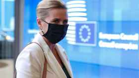 La primera ministra de Dinamarca, Mette Frederiksen, en Bruselas.