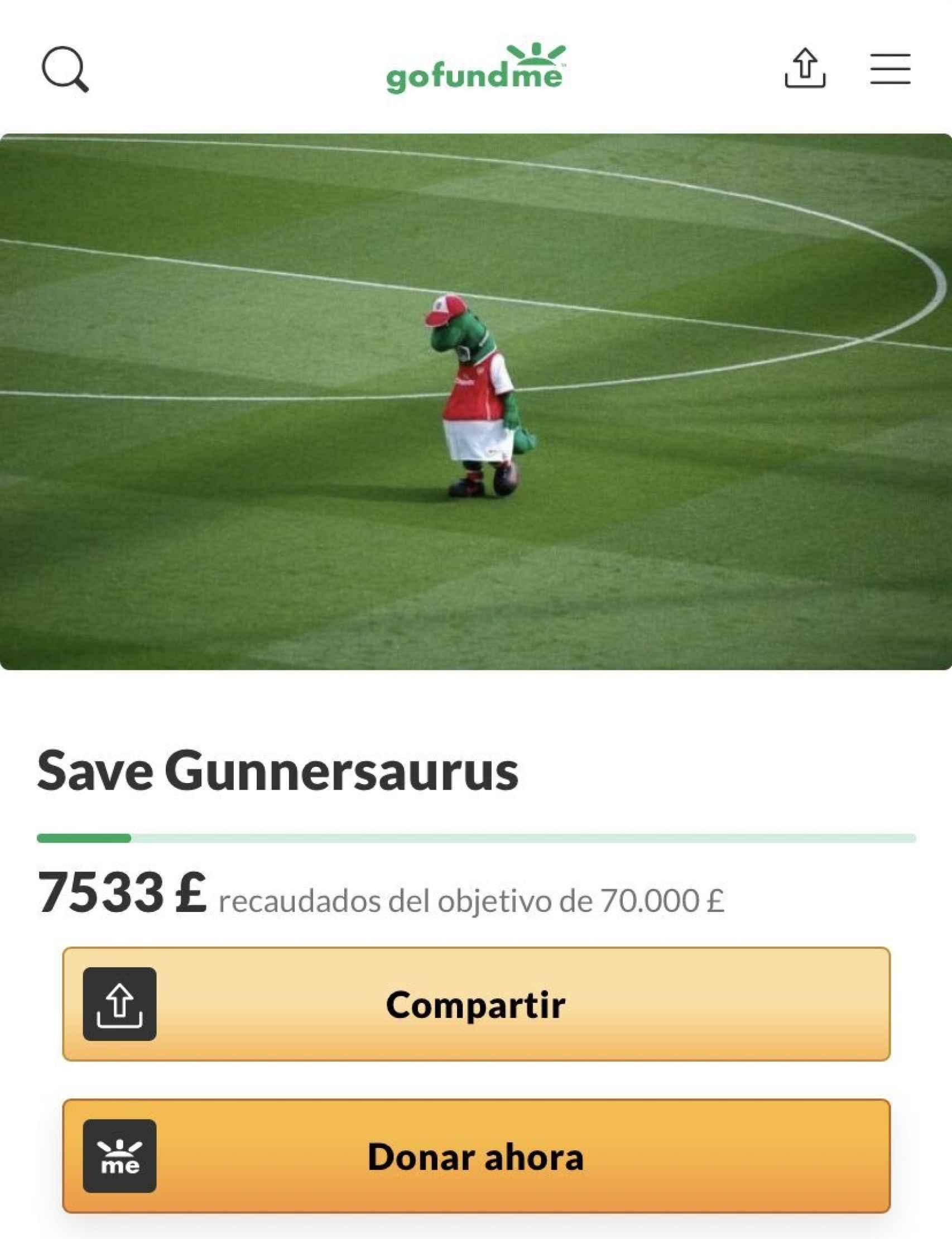 El crowdfounding para rescatar a Gunnersaurus