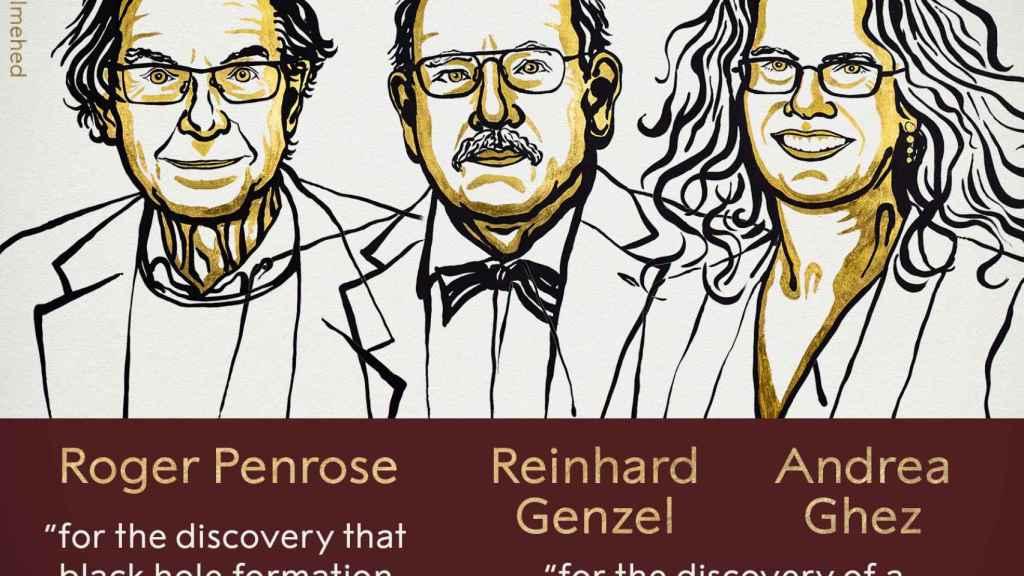 Roger Penrose, Reinhard Genzel y Andrea Ghez.