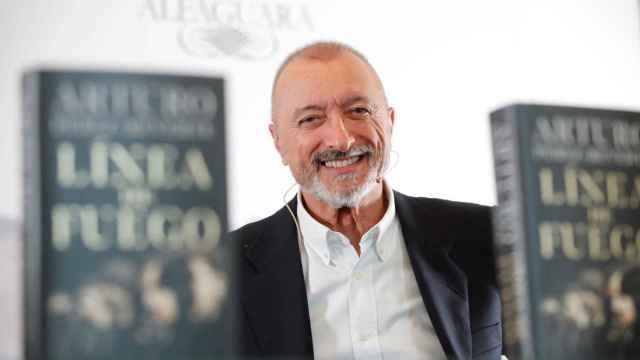 Arturo Pérez-Reverte, este martes durante la presentación de su nueva novela.